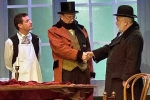 Albert Clack as Mr Wardle in The Pickwick Papers (with Dean Gaffney of Eastenders  John D  Collins of 'Allo 'allo)